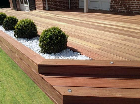 Top 60 Best Backyard Deck Ideas - Wood And Composite ... on Backyard Wood Patio Ideas id=80590
