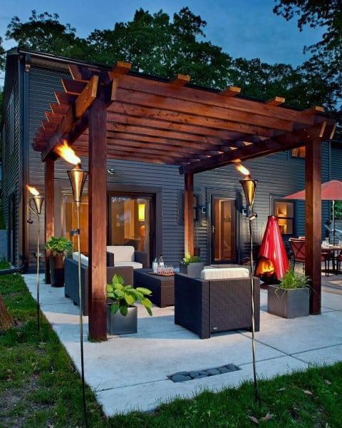 Top 60 Best Outdoor Patio Ideas - Backyard Lounge Designs on Small Outdoor Yard Ideas id=53387