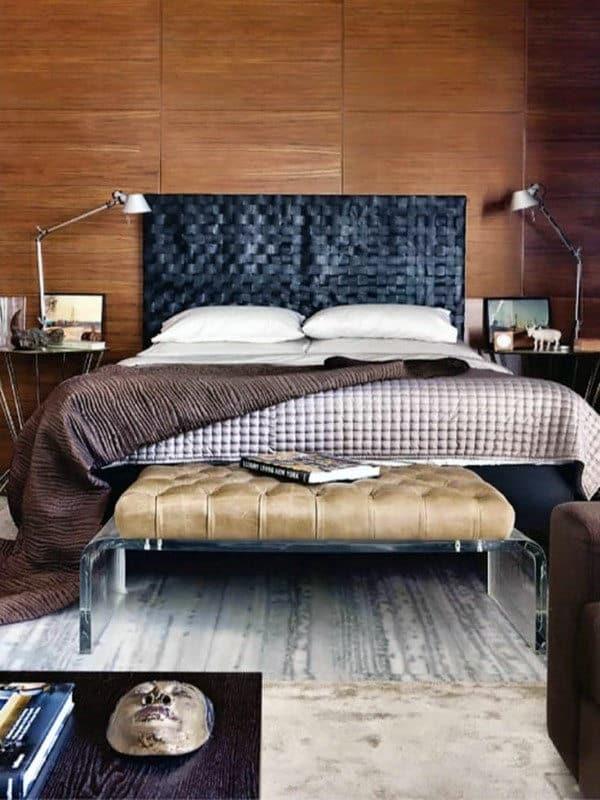 60 Men's Bedroom Ideas - Masculine Interior Design Inspiration on Small Room Ideas For Guys  id=15746
