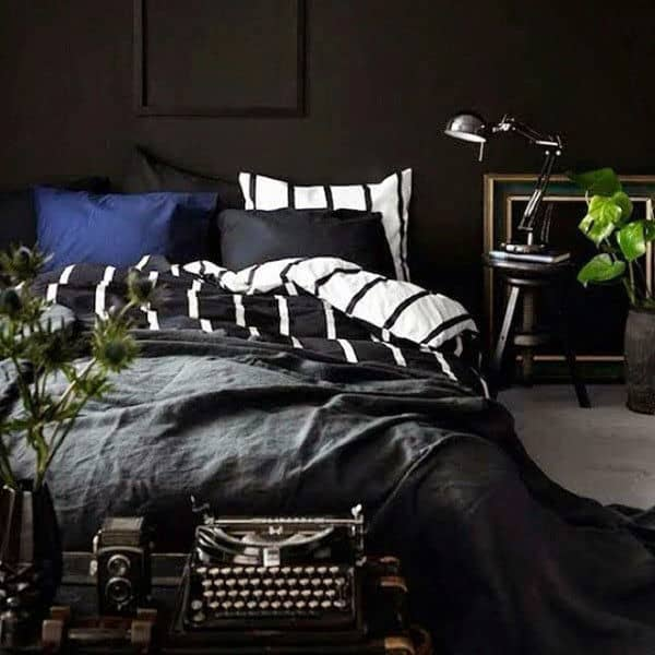 80 Bachelor Pad Men's Bedroom Ideas - Manly Interior Design on Bedroom Ideas For Men Small Room  id=20412