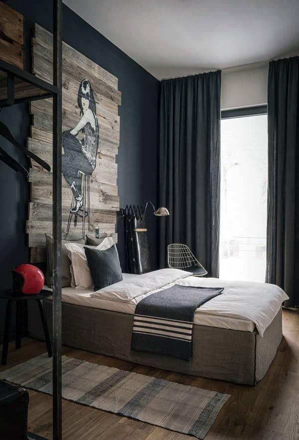 60 Men's Bedroom Ideas - Masculine Interior Design Inspiration on Bedroom Ideas For Guys  id=27205