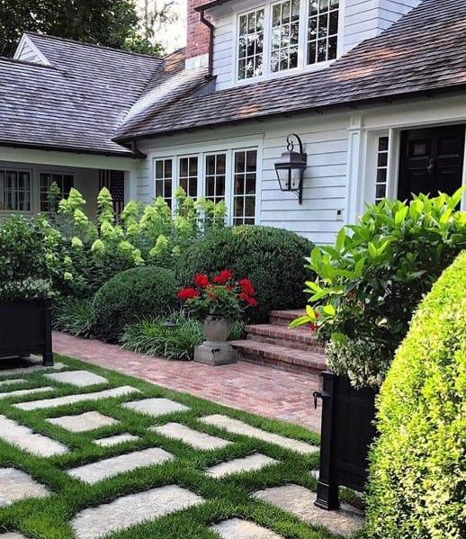 Top 50 Best Brick Walkway Ideas - Hardscape Path Designs on Backyard Masonry Ideas id=90441