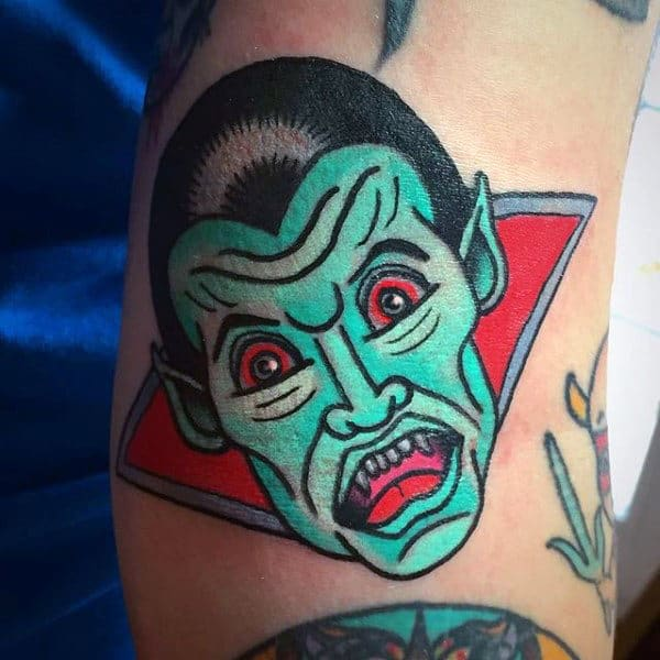 Tattoo New School Zombie Coffin
