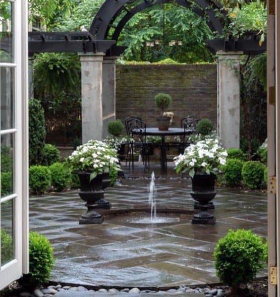 Top 60 Best Flagstone Patio Ideas - Hardscape Designs on Small Backyard Stone Patio Ideas id=56088