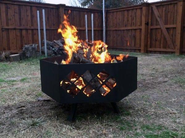 Top 60 Best Metal Fire Pit Ideas - Steel Backyard Designs on Fire Pit Inspiration  id=55015