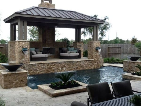 Top 50 Best Backyard Pavilion Ideas - Covered Outdoor ... on Outdoor Patio Pavilion id=30353