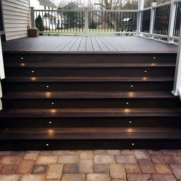 Top 50 Best Deck Steps Ideas - Backyard Design Inspiration on Backyard Patio Steps id=40936