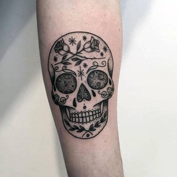 Sugar Skulls Tattoo Designs Men