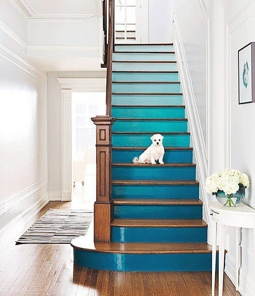 Top 70 Best Painted Stairs Ideas Staircase Designs | Stairs Wall Paint Design | Designer | Fancy | Beautiful | Staircase Railing Wood | Wall Colour
