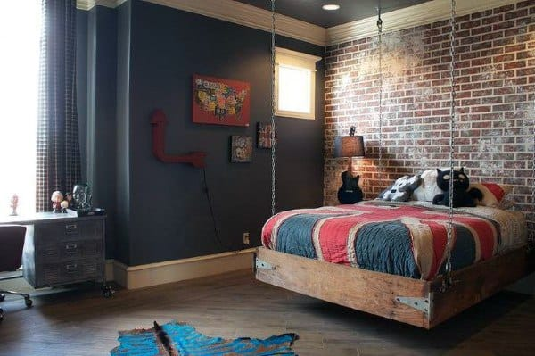 Top 70 Best Teen Boy Bedroom Ideas - Cool Designs For ... on Small Bedroom Ideas For Teenage Guys  id=89970