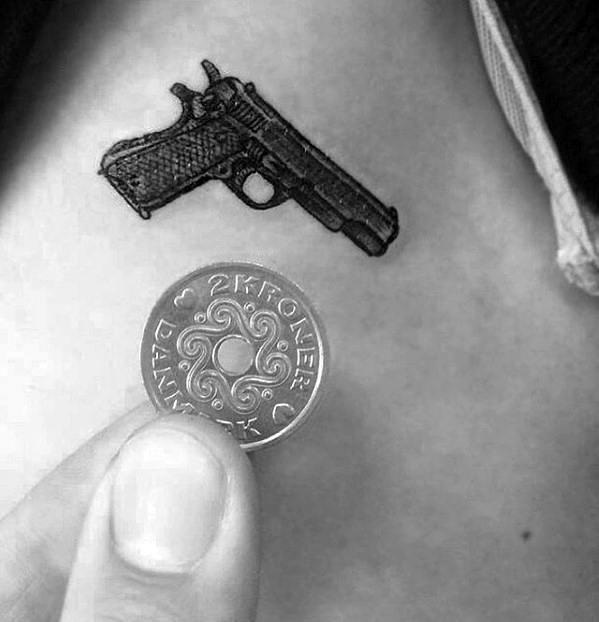 60 Quarter Sized Tattoos For Men Mini Design Ideas