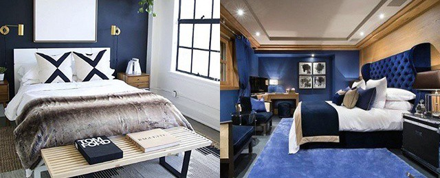 Top 50 Best Navy Blue Bedroom Design Ideas