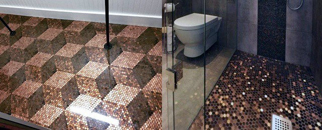 penny tile floor designs