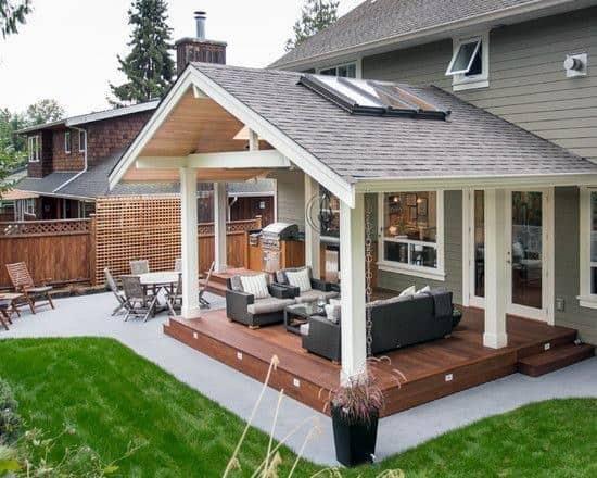 Top 40 Best Deck Roof Ideas - Covered Backyard Space Designs on Covered Back Deck Designs id=28680