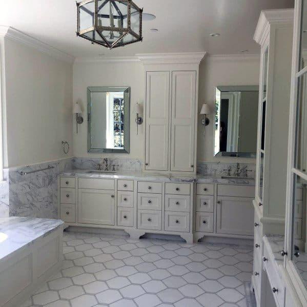 Top 60 Best White Bathroom Ideas - Home Interior Designs on White Bathroom Design Ideas  id=81575