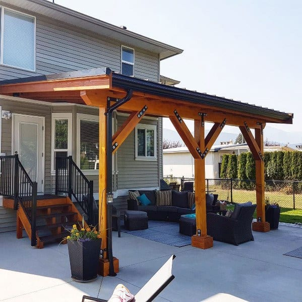 Top 60 Patio Roof Ideas - Covered Shelter Designs on Backyard Overhang Ideas  id=63430