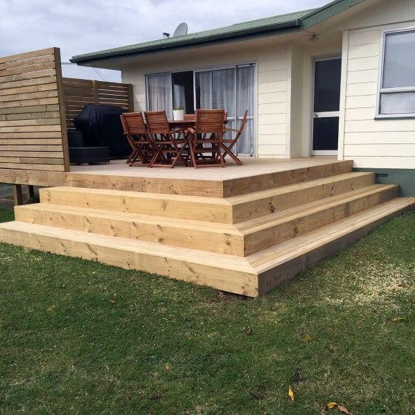 Top 50 Best Deck Steps Ideas - Backyard Design Inspiration on Backyard Patio Steps id=26375