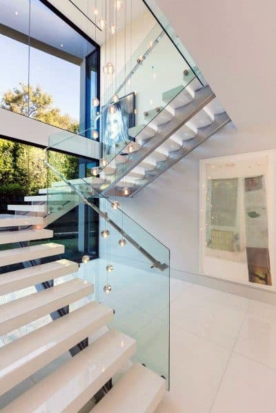 Top 70 Best Stair Railing Ideas Indoor Staircase Designs | Glass Staircase Panels Near Me | Modern Staircase Railing | Tempered Glass | Wood | Stair Balustrade | Stair Case