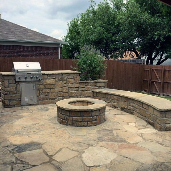 Top 50 Best Built In Grill Ideas - Outdoor Cooking Space ... on Built In Grill Backyard id=82601