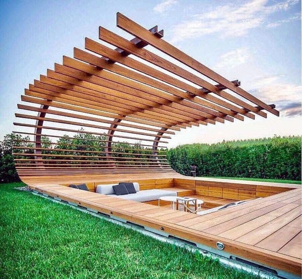 Top 60 Best Floating Deck Ideas - Contemporary Backyard ... on Floating Patio Ideas id=78684