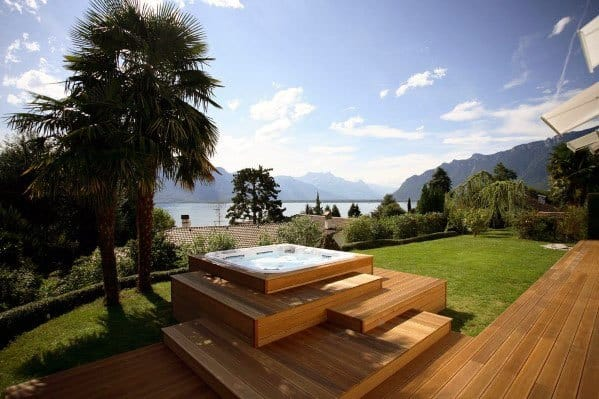 Top 80 Best Hot Tub Deck Ideas - Relaxing Backyard Designs on Deck And Hot Tub Ideas  id=70742