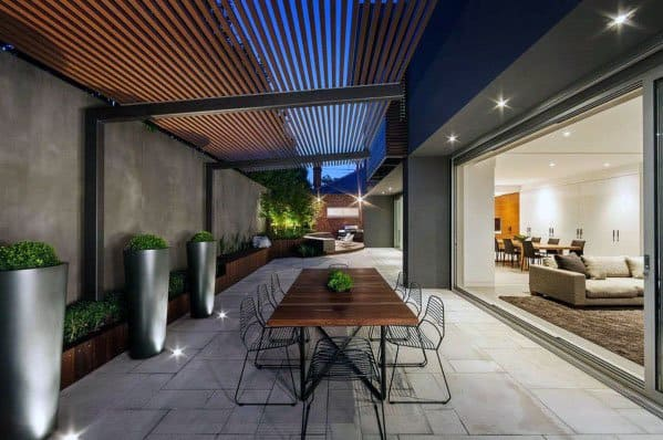 Top 70 Best Modern Patio Ideas - Contemporary Outdoor Designs on Modern Backyard Patio Ideas  id=29955
