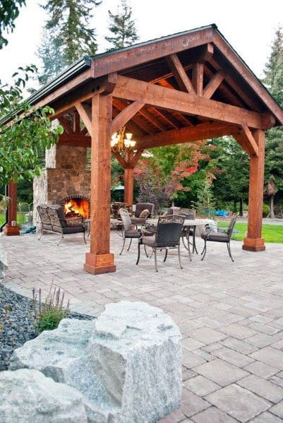 Top 60 Best Paver Patio Ideas - Backyard Dreamscape Designs on Best Backyard Patio Designs id=60473