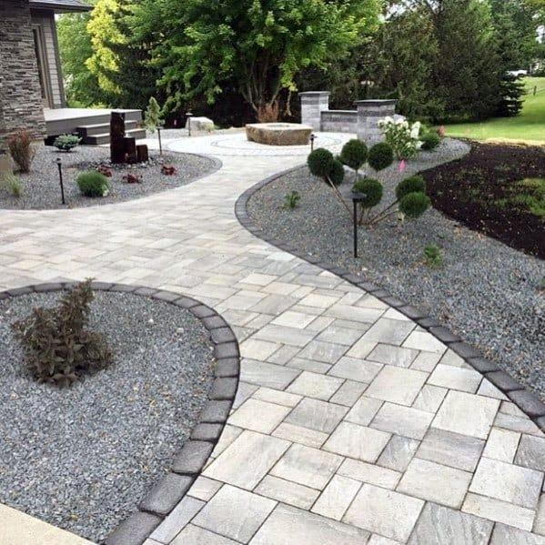 walkway paver patio designs Top 60 Best Paver Patio Ideas - Backyard Dreamscape Designs