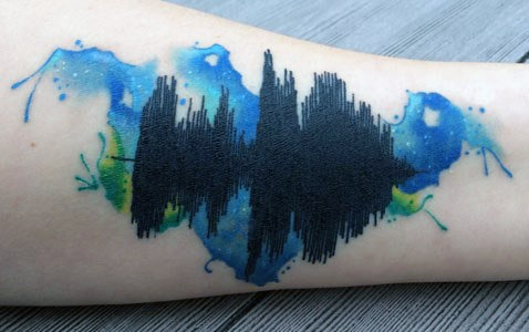 30 Soundwave Tattoo Designs For Men Acoustic Ink Ideas