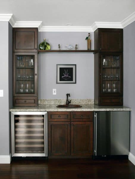 Top 70 Best Home Wet Bar Ideas - Cool Entertaining Space ... on Small Wet Bar In Basement  id=71412