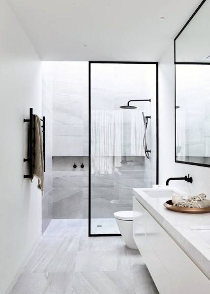 Top 60 Best White Bathroom Ideas - Home Interior Designs on White Bathroom Design Ideas  id=98884