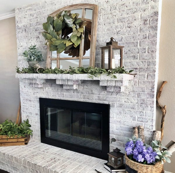 Top 50 Best Painted Fireplace Ideas - Interior Designs on Brick Painting Ideas  id=91090