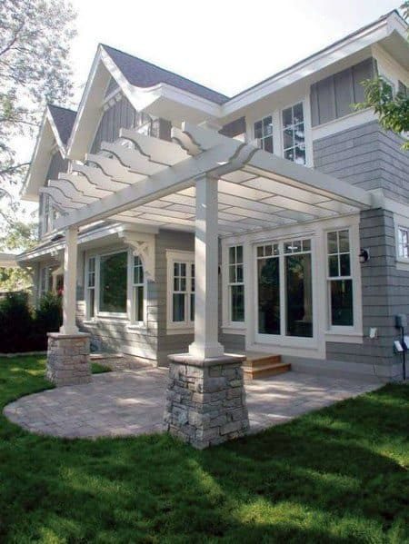Top 60 Patio Roof Ideas - Covered Shelter Designs on White Patio Ideas id=94918