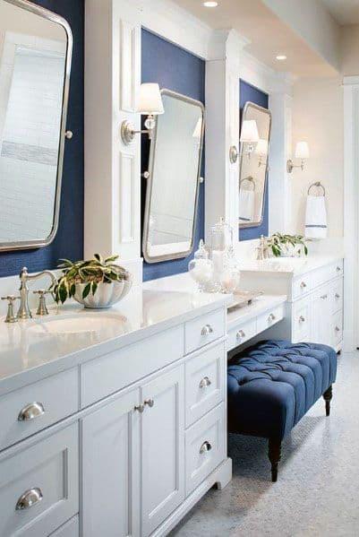 top 50 best blue bathroom ideas navy themed interior designs on blue paint bathroom ideas exterior id=43212