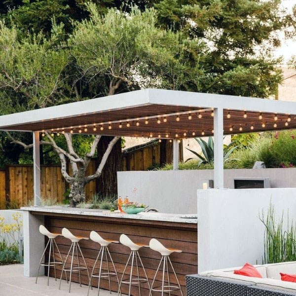 Top 50 Best Backyard Outdoor Bar Ideas - Cool Watering Holes on Outdoor Bar Patio Ideas  id=75310