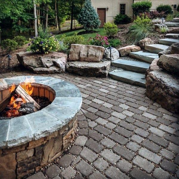 Top 60 Best Fire Pit Ideas - Heated Backyard Retreat Designs on Outdoor Fire Pit Ideas id=93464