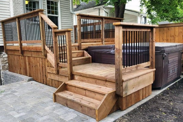 Top 80 Best Hot Tub Deck Ideas - Relaxing Backyard Designs on Deck And Hot Tub Ideas  id=31983