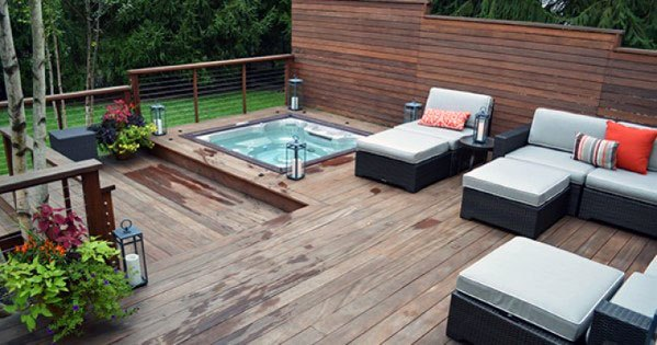 Top 80 Best Hot Tub Deck Ideas - Relaxing Backyard Designs on Deck And Hot Tub Ideas  id=73515