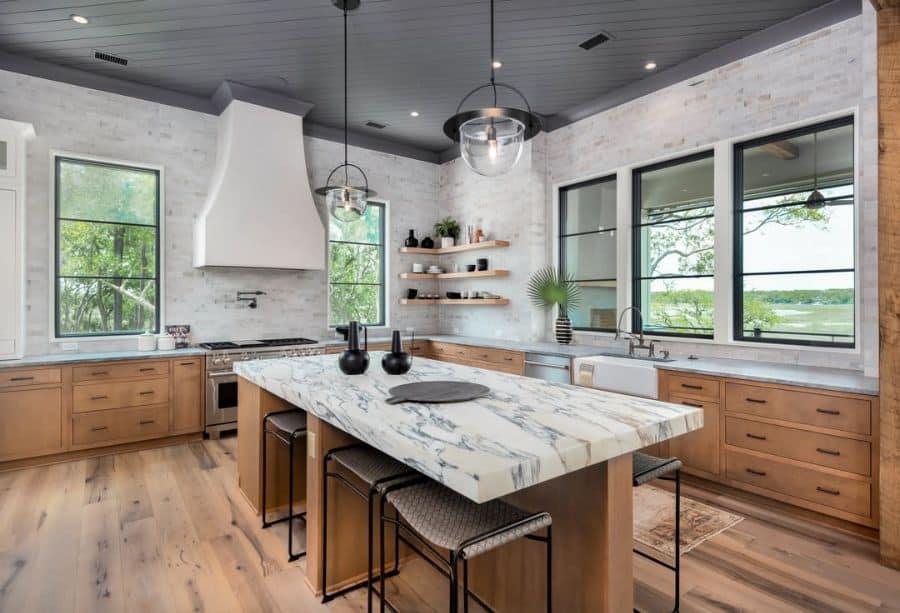The Top 70+ Best Modern Farmhouse Kitchen - Interior Home ... on Luxury Farmhouse Kitchen  id=94644