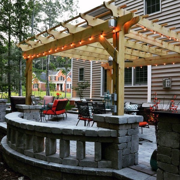 Top 60 Best Paver Patio Ideas - Backyard Dreamscape Designs on Backyard Wood Patio Ideas id=28967