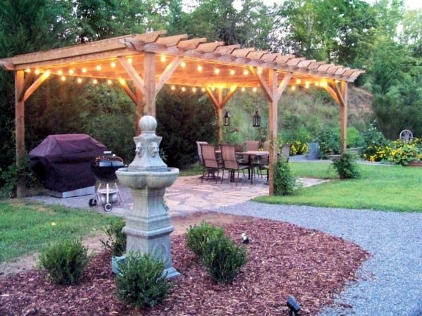 Top 40 Best Patio String Light Ideas - Outdoor Lighting ... on Backyard String Light Designs id=37495