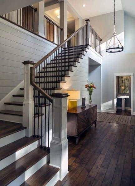 Top 70 Best Stair Railing Ideas Indoor Staircase Designs | Stair Posts And Spindles | Stairway | Newel Post | Inexpensive | Rectangular | Railing