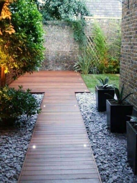 Top 50 Best Wooden Walkway Ideas - Wood Path Designs on Side Yard Walkway Ideas id=64629