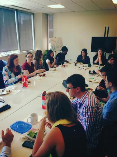 New nonprofits and summer interns getting to know each other and the Next Mile community