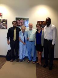 John & Judy Gay, today's lunch speakers, with their friends at Tiyatien Health! August 20, 2013