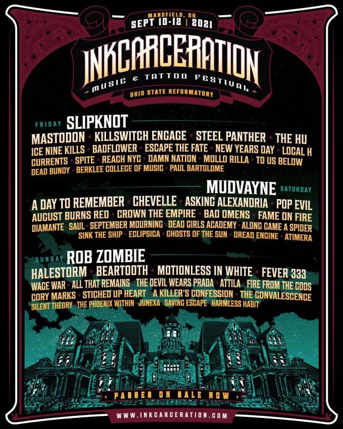 Inkcarceration Festival 2021 lineup announced | NextMosh