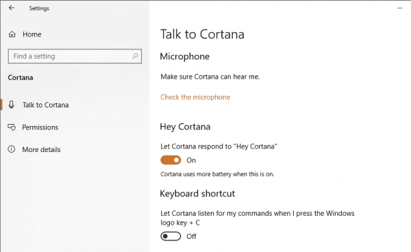Using Hello Cortana Voice Command and Dictation on Windows 10