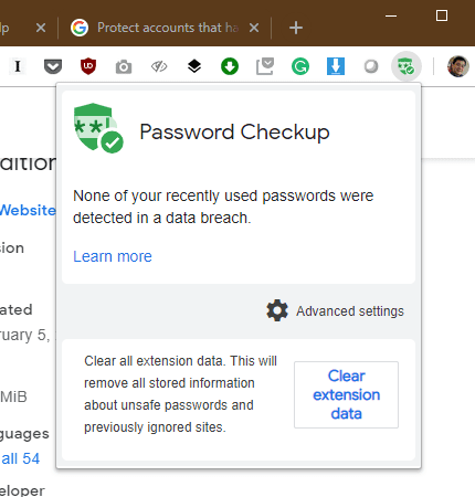 image 11 - Password Checkup in Google Chrome