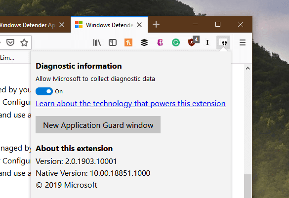 image 26 - Microsoft Brings Windows Defender Application Guard to Chrome and Firefox
