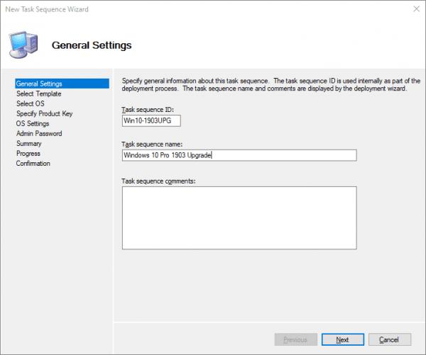 Windows 10 1903 May Update Upgrade via MDT - Next of Windows
